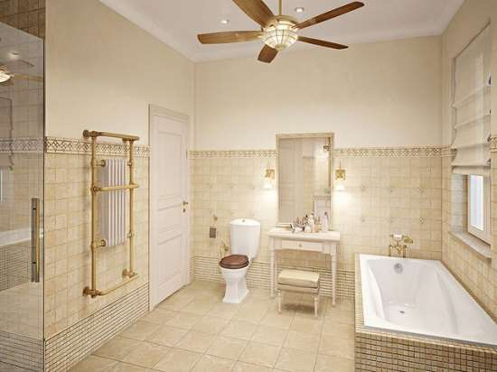 Ванная в классическом стиле – элегантная простота