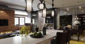 Светильники в интерьере «лофт» - важные элементы зонирования пространства