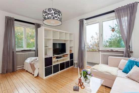Практичное оформление однокомнатной квартиры