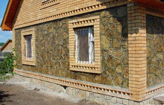 Отделка своими руками фасада природным камнем 42