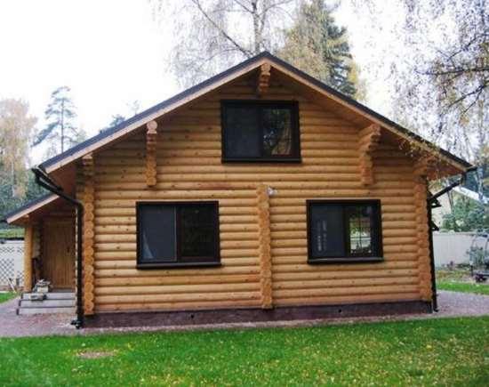 Дом из оцилиндрованного бревна – жилье, в котором всегда комфортно