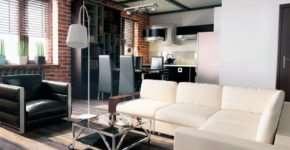 Интерьер квартиры в стиле лофт или удачное сочетание ретро и современности