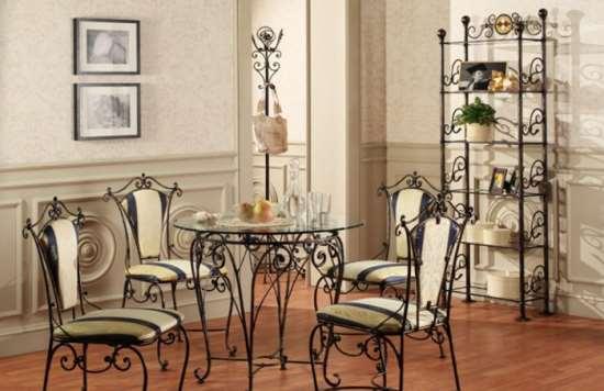 Кованая мебель – надежное и долговечное украшение интерьера