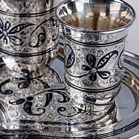 Изысканный вкус - кубачинские наборы для воды из серебра