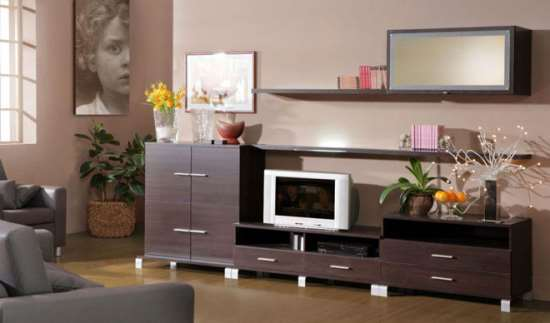 Выбор мебели для гостиной на заказ по индивидуальным размерам