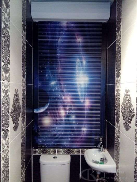 Почему так популярны рольставни в туалет с рисунком