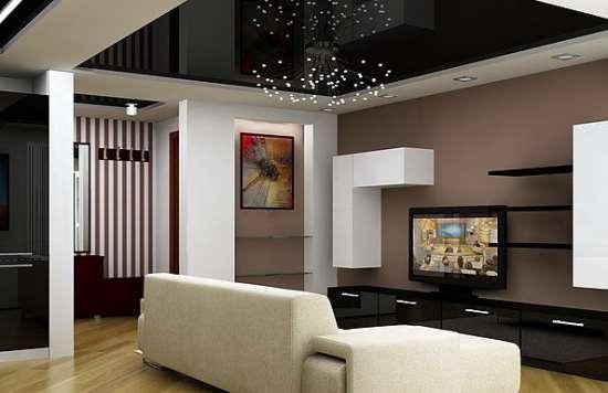 Современные натяжные потолки: тренды полотен, цветов и конструкций