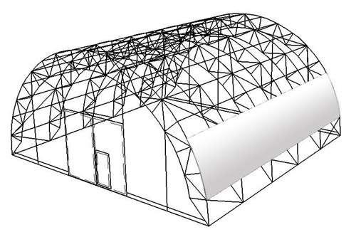 Преимущества использования арочных металлических ферм