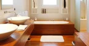 Все о монтаже паркета в ванных комнатах