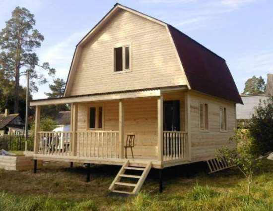 Надежный дом на винтовых сваях