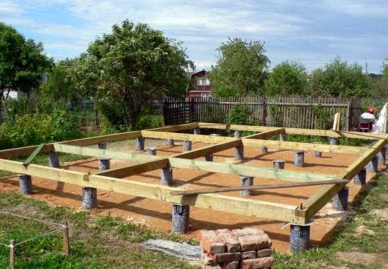Виды фундаментов для брусового дома