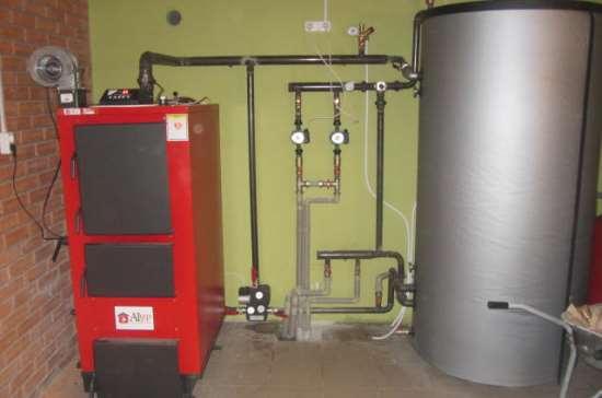Применение буферной емкости для отопления помещения
