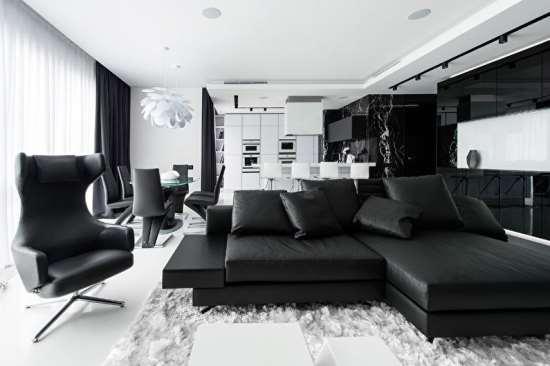 Как правильно вписать в интерьер предметы мебели черного цвета