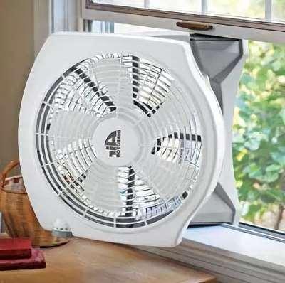 В каких случаях применяются оконные вентиляторы