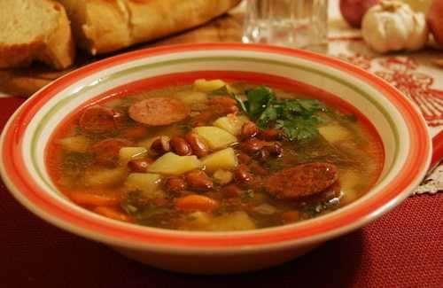 Простой рецепт супа с мясом и фасолью