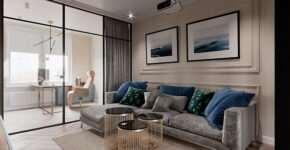 Индивидуальная разработка дизайна интерьера квартир