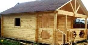 Дом-баня из бруса