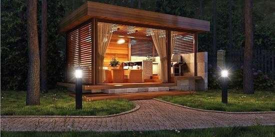 Организация уюта на дачном участке: выбор беседки и бани