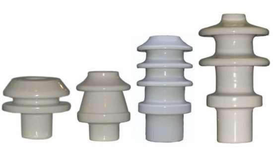 Где используются фарфоровые опорные изоляторы
