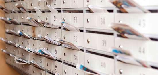 Адресная реклама за счет распространения листовок на почте