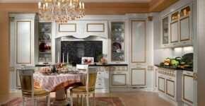Основные отличия и черты классических кухонь