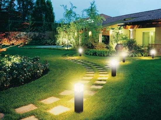 Реализация ландшафтного освещения опытными спецами
