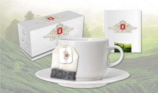 Реализация чая с фирменным логотипом компании