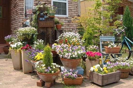 Уличные вазоны для цветов — экономия места