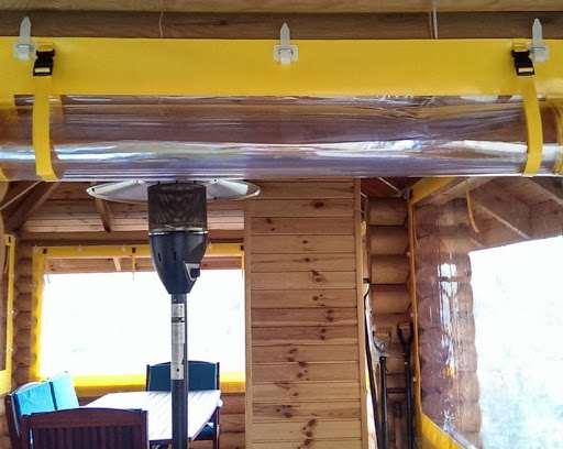 прозрачные шторы из пвх для беседки