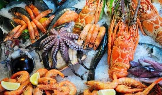 Вкусные и полезные морепродукты в СПб