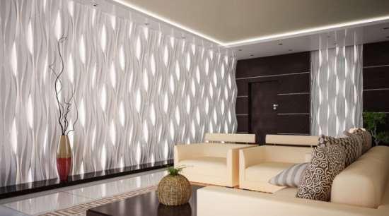 Главные преимущества гипсовых 3D панелей для стен