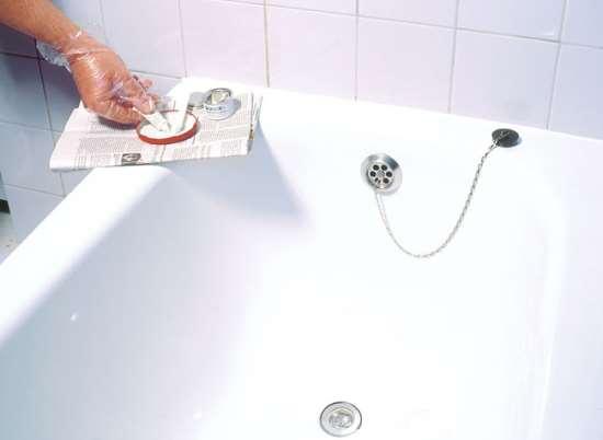 Реставрация ванны при помощи акрила