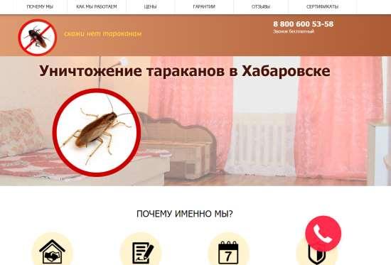 Быстрое уничтожение тараканов в городе Хабаровск